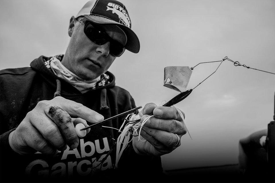 Angler handling a lure