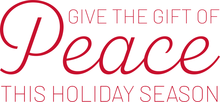 Give the gift of peace this holiday season