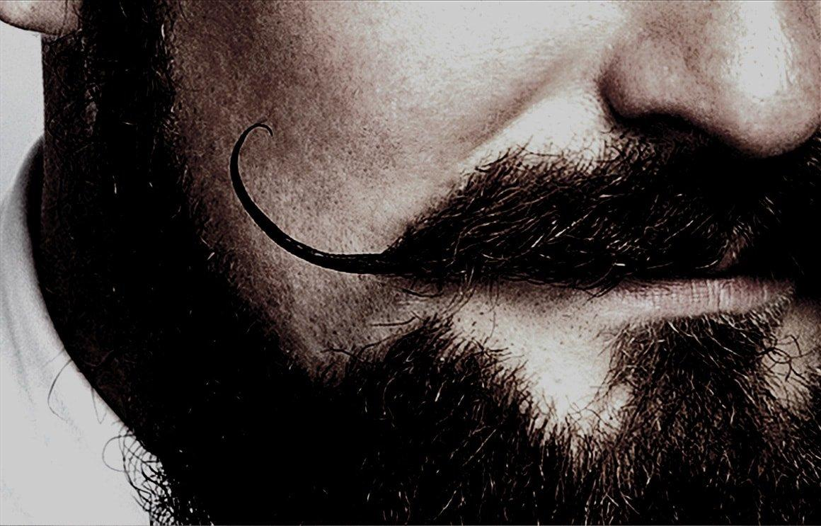 Close-up of beard