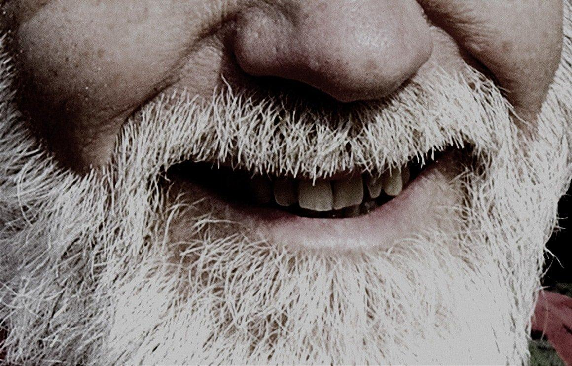 Close-up of white beard