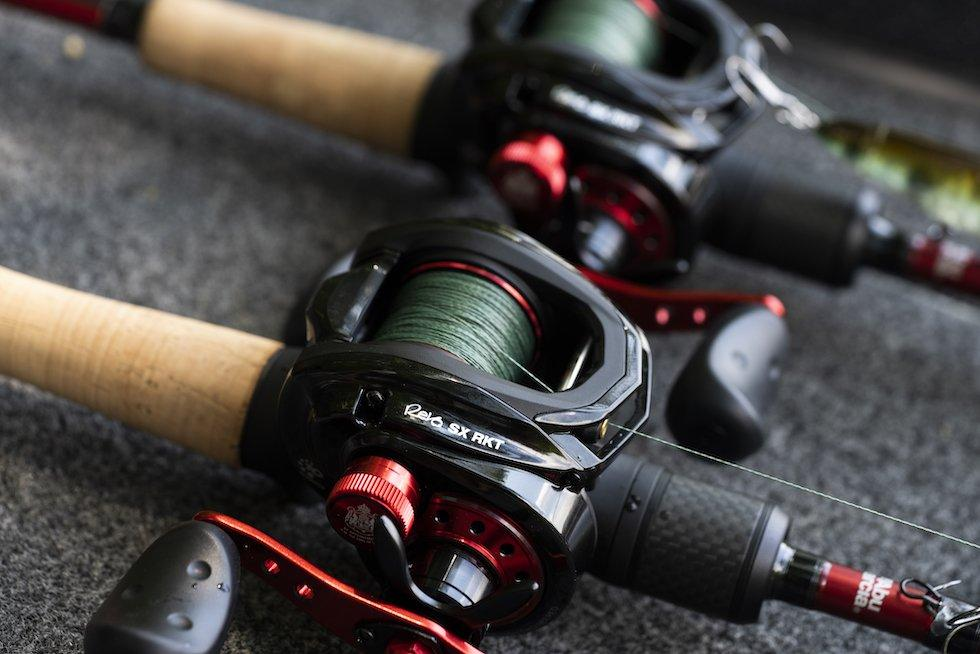Close-up of Revo SX RKT reels